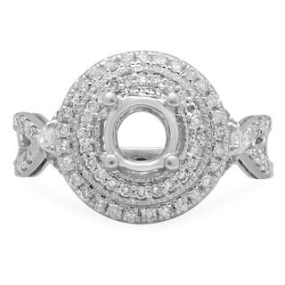 14k White Gold 5/8ct TDW White Diamond Semi Mount Bridal Engagement Ring (I-J, I1-I2)