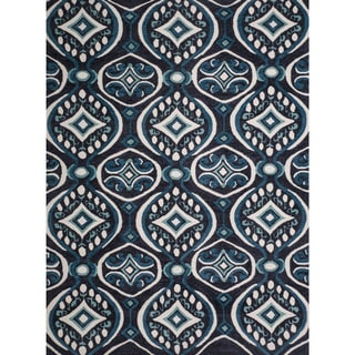 Christopher Knight Home Rosalyn Gabrielle Blue Polyester Rug (8' x 10')