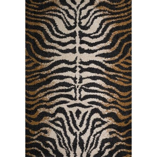 Christopher Knight Home Rose Kimber Brown Animal Print Frieze Rug (5' x 8')