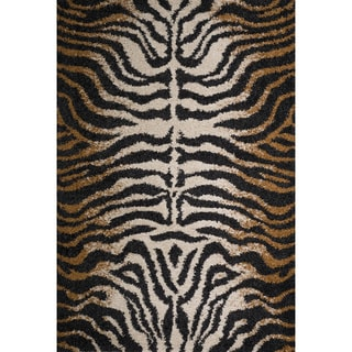 Christopher Knight Home Rose Kimber Brown Animal Print Frieze Rug (8' x 10')