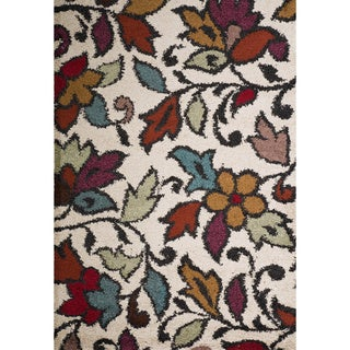 Christopher Knight Home Rose Linda Pearl Floral Frieze Rug (5' x 8')