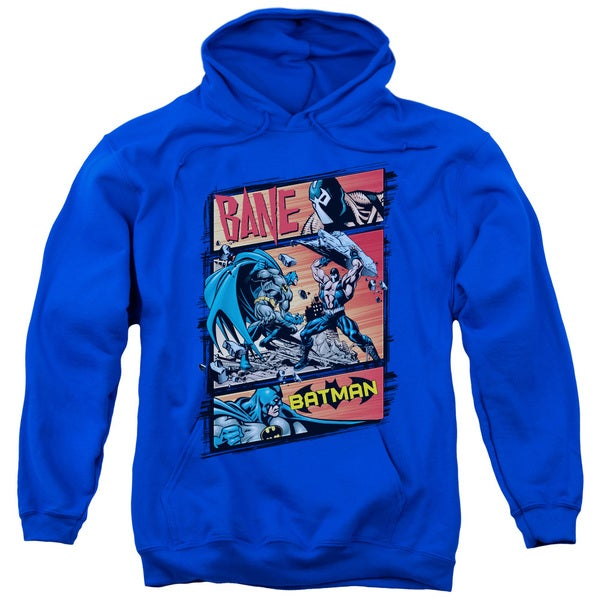 Batman/Epic Battle Adult Pull-Over Hoodie in Royal Blue