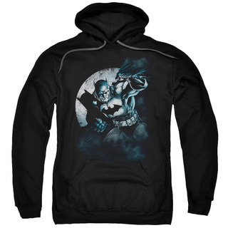 Batman/Batman Spotlight Adult Pull-Over Hoodie in Black
