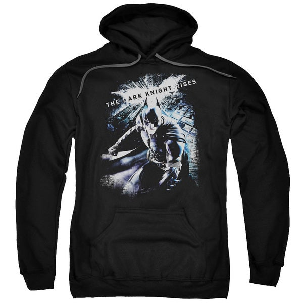 Dark Knight Rises/More Than A Man Adult Pull-Over Hoodie in Black