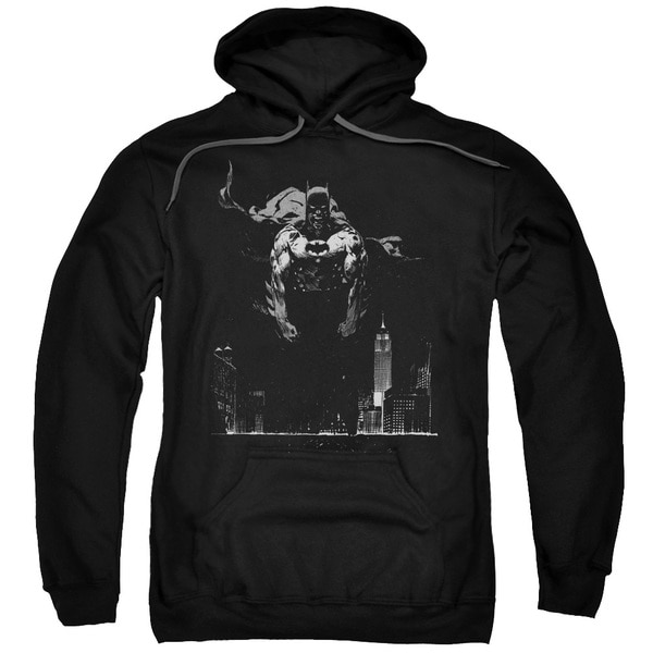 Batman/Dirty City Adult Pull-Over Hoodie in Black