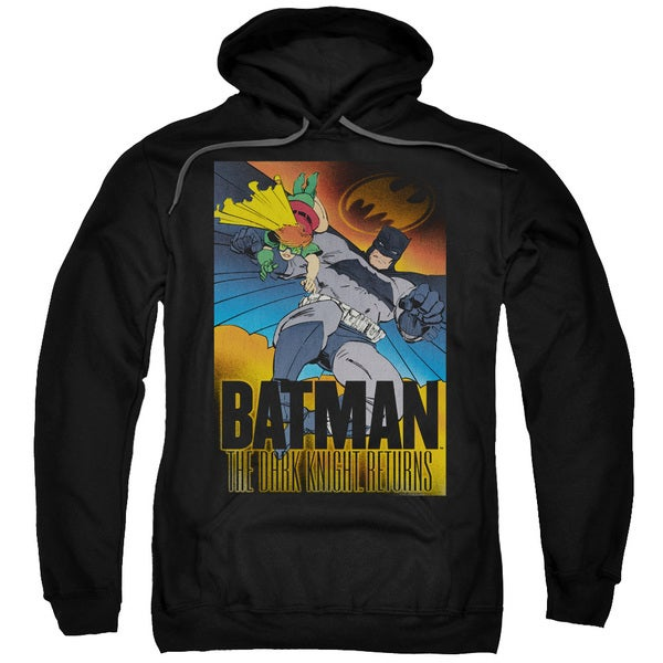Batman/Dk Returns Adult Pull-Over Hoodie in Black