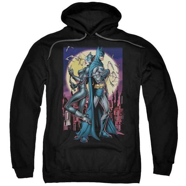 Batman/Paint The Town Red Adult Pull-Over Hoodie in Black