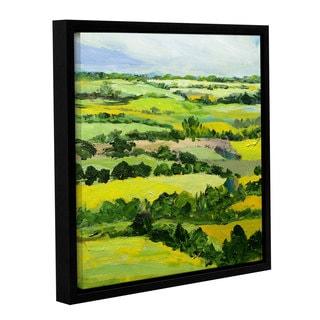 Allan Friedlander's 'Brightwalton Green' Gallery Wrapped Floater-framed Canvas