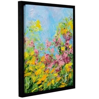 Allan Friedlander's 'Butchart Garden' Gallery Wrapped Floater-framed Canvas