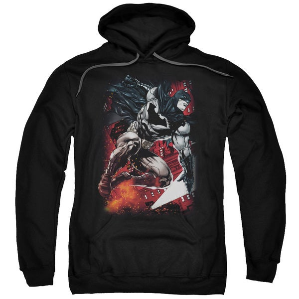 Batman/Sparks Leap Adult Pull-Over Hoodie in Black