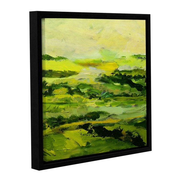 Allan Friedlander's 'Chipping Norton' Gallery Wrapped Floater-framed Canvas
