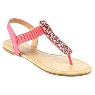 Beston Women's Glittery Flat Sandals
