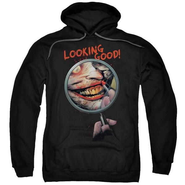 Batman/Looking Good Adult Pull-Over Hoodie in Black 18672785