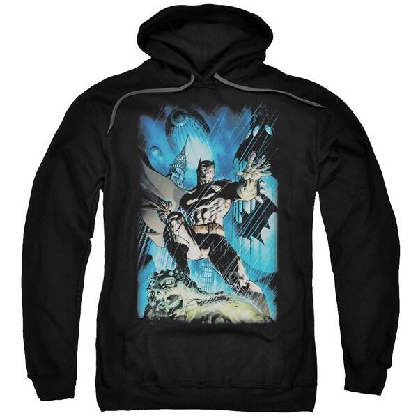 Batman/Stormy Dark Knight Adult Pull-Over Hoodie in Black