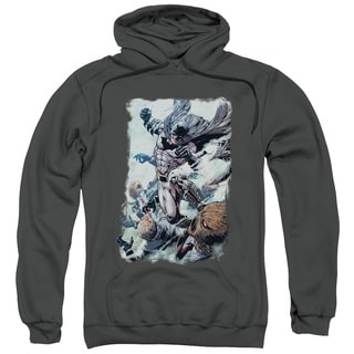 Batman/Punch Adult Pull-Over Hoodie in Charcoal