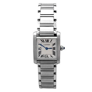 Cartier Pre-owned Women's Stainless Steel Francaise Watch
