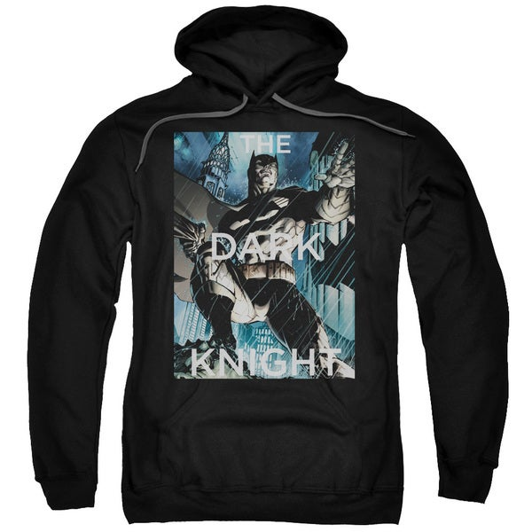 Batman/Fighting The Storm Adult Pull-Over Hoodie in Black
