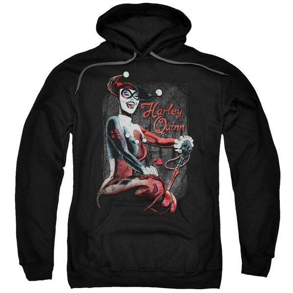 Batman/Laugh It Up Adult Pull-Over Hoodie in Black