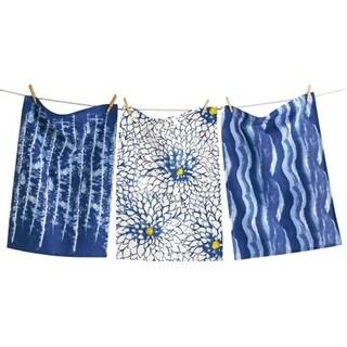 TAG Shibori Dishtowel Set of 3 Indigo