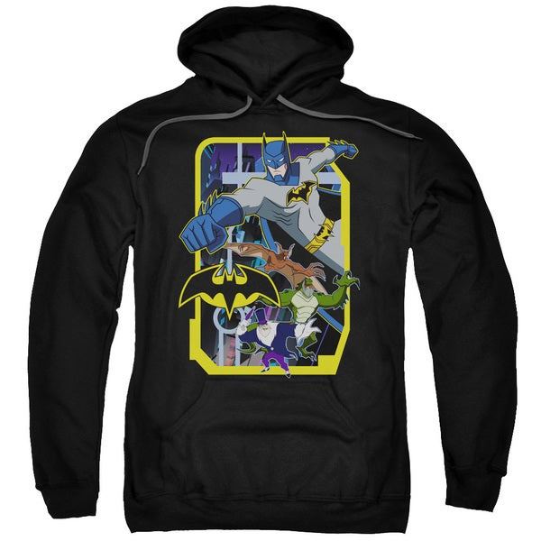 Batman Unlimited/Unlimited Villains Adult Pull-Over Hoodie in Black