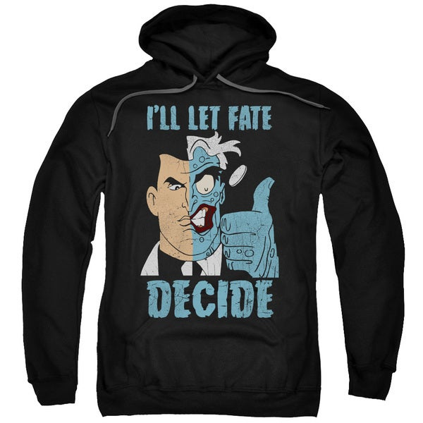Batman The Animated Series/Fate Decide Adult Pull-Over Hoodie in Black