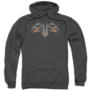 Batman V Superman/Tech Bat Logo Adult Pull-Over Hoodie in Charcoal