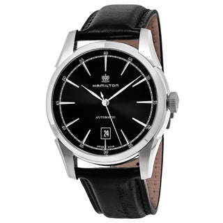 Hamilton Men's H42415731 'American Classic' Black Dial Black Leather Spirit of Liberty Swiss Automatic Watch