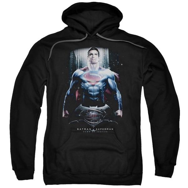 Batman V Superman/Supe Ground Zero Adult Pull-Over Hoodie in Black