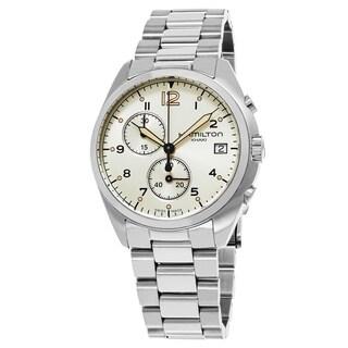 Hamilton Men's H76512155 'Khaki Aviation' Grey Dial Stainless Steel Pilot Pioneer Chronograph Swiss Quartz Watch