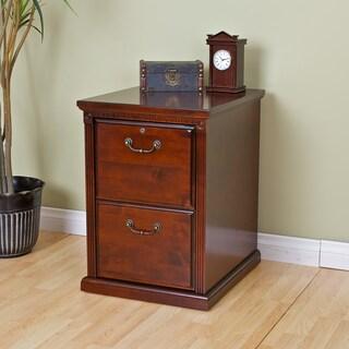 Havington Court Brown Cherry-Finished Hardwood/Veneer 2-Drawer Legal/Letter Locking File Cabinet