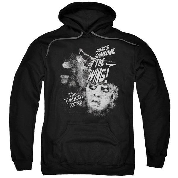 Twilight Zone/Someone On The Wing Adult Pull-Over Hoodie in Black