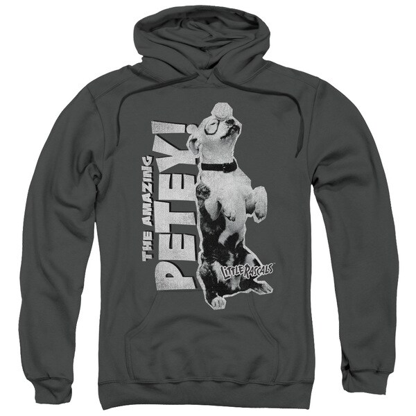 Little Rascals/Amazing Petey Adult Pull-Over Hoodie in Charcoal