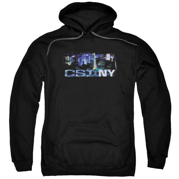 CSI Ny/Never Rests Adult Pull-Over Hoodie in Black