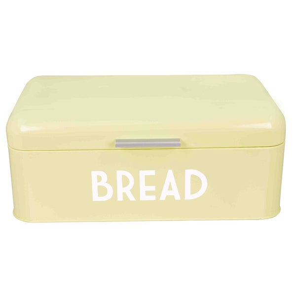 Sweet Home Collection Off-white Powder-coated Steel Breadbox 18675788