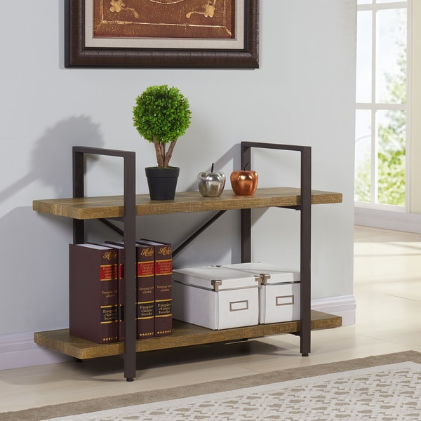 Danya B Two Level Rustic Shelving Unit