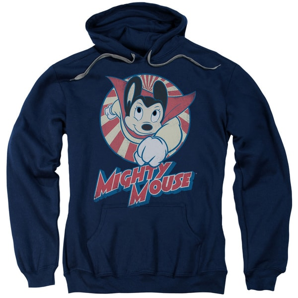 Mighty Mouse/The One The Only Adult Pull-Over Hoodie in Navy