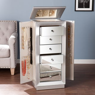 Upton Home Jarvis Silver Jewelry Armoire