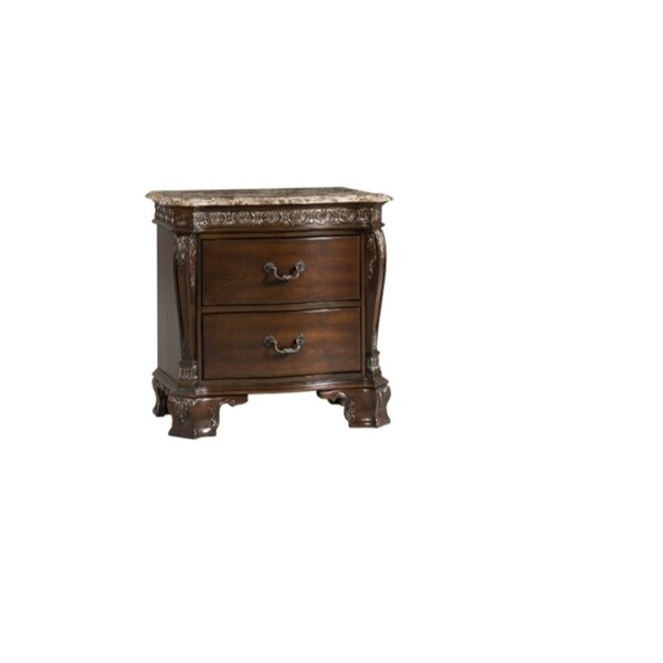 Picket House Victoria Marble Top Nightstand
