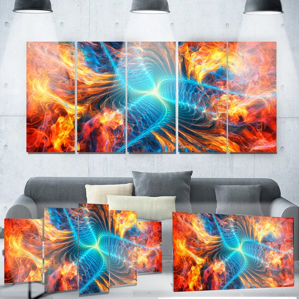 Designart 'Electric Fire' Metal Wall Art