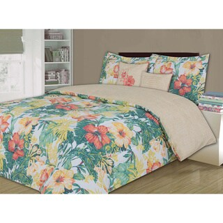 Tommy Bahama Beachomber Gold Cotton 4 Piece Comforter Set