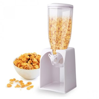 Clear Plastic 4-quart Cereal/Coffee Bean/Pasta Dispenser