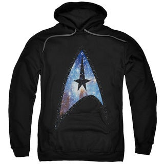 Star Trek/Galactic Shield Adult Pull-Over Hoodie in Black