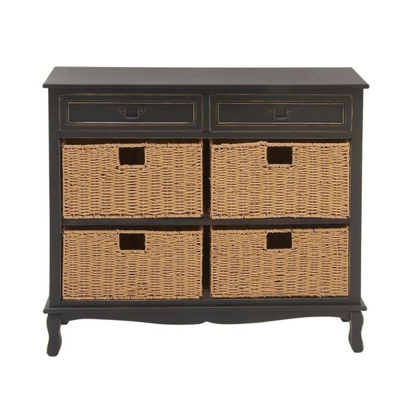 Black Wood & Sea Grass Dresser