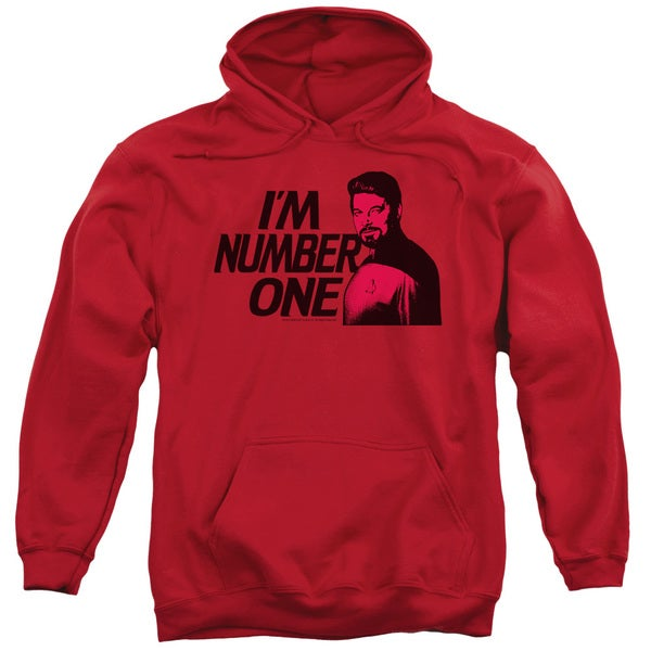 Star Trek/Im Number One Adult Pull-Over Hoodie in Red