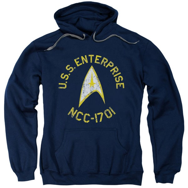 Star Trek/Collegiate Adult Pull-Over Hoodie in Navy