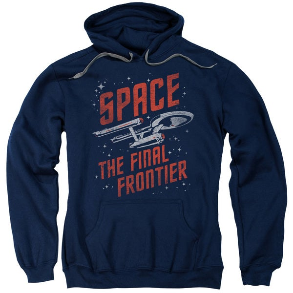 Star Trek/Space Travel Adult Pull-Over Hoodie in Navy