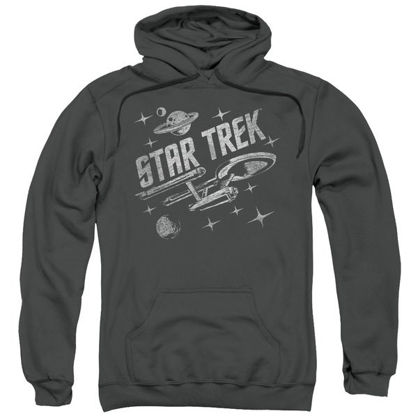 Star Trek/Through Space Adult Pull-Over Hoodie in Charcoal