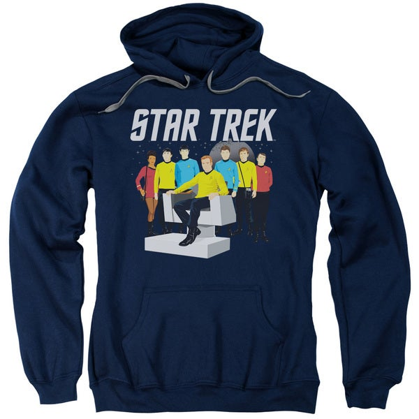 Star Trek/Vector Crew Adult Pull-Over Hoodie in Navy