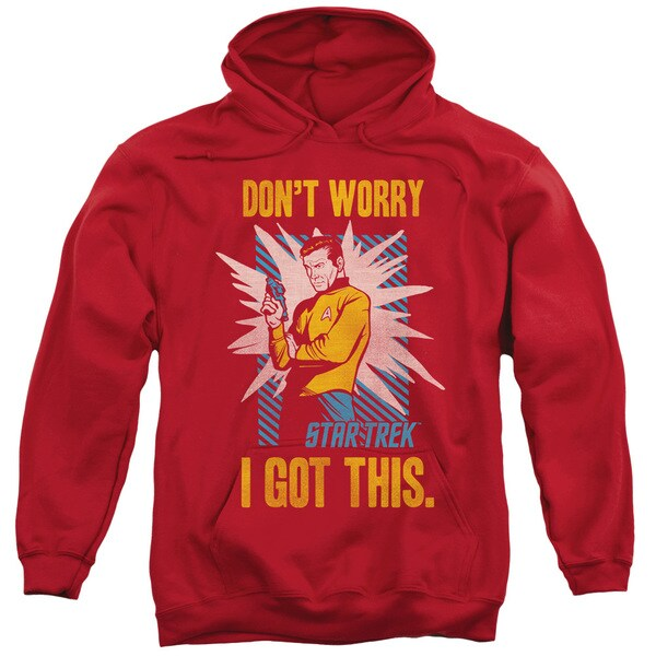 Star Trek/Got This Adult Pull-Over Hoodie in Red