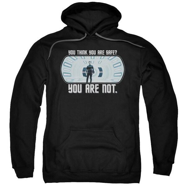 Star Trek/Not Safe Adult Pull-Over Hoodie in Black